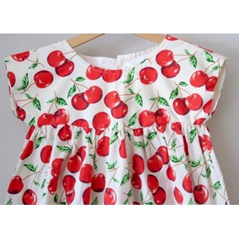 40% OFF Red Cherry Drop Sleeve Dress Age 2-3