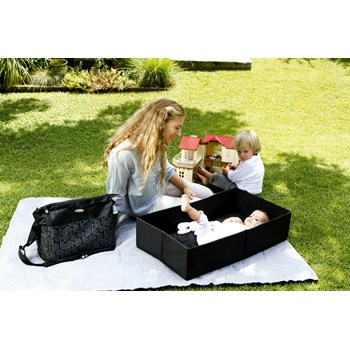sootheTIME Good To Go Tote Changing Bag and Portable Cot (Black)