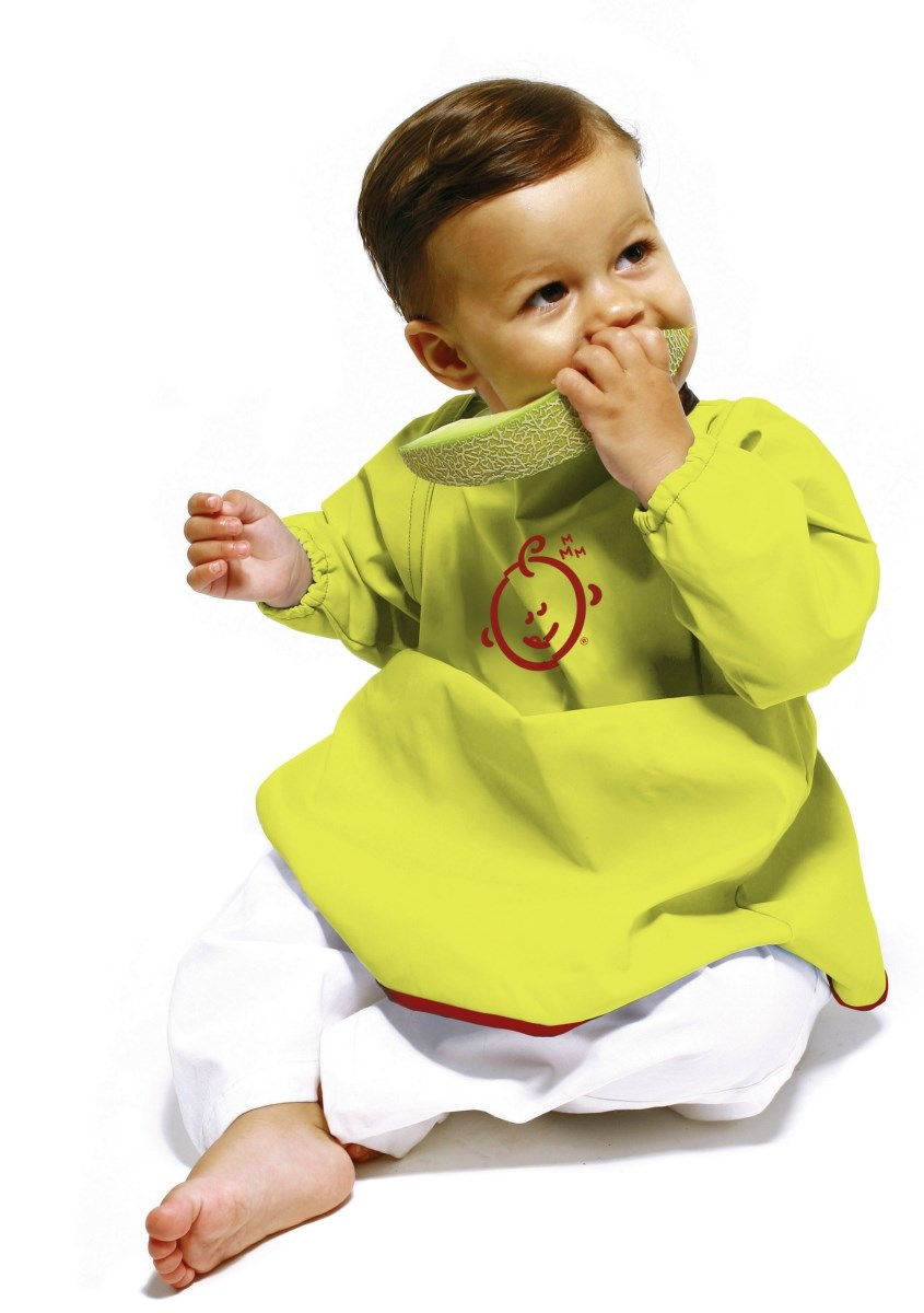 sootheTIME Long Sleeve Bib with Detachable Sleeves
