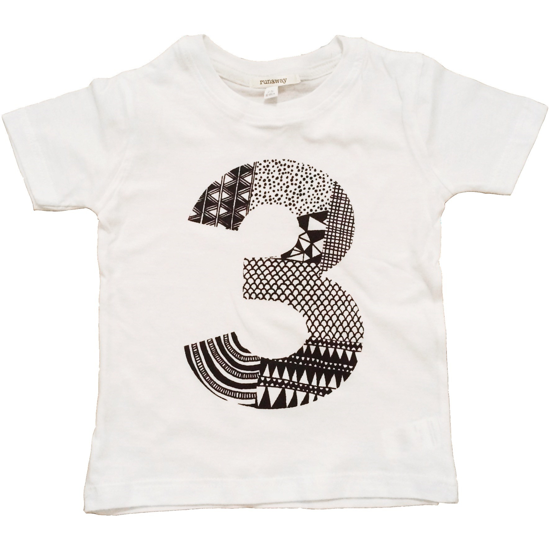 Three Is A Magic Number - Doodle by Numbers 3 T-Shirt (Black or White available)