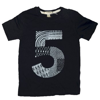 High Five - Doodle by Numbers 5 T-Shirt (Black or White available)