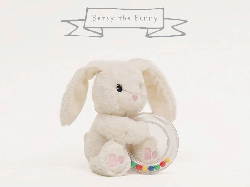 Betty the bunny rattle