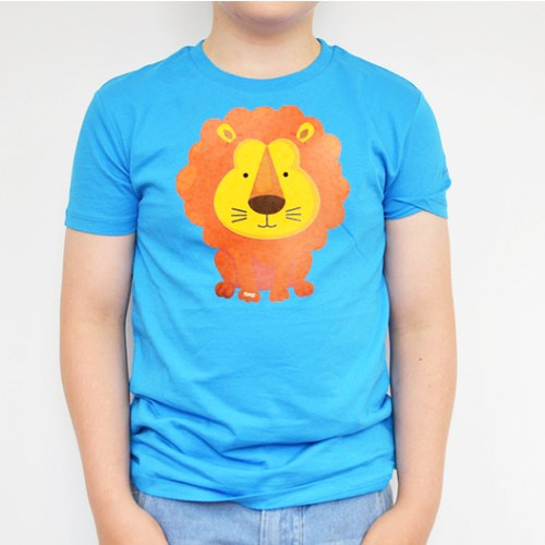 Lion Printed Blue Tee
