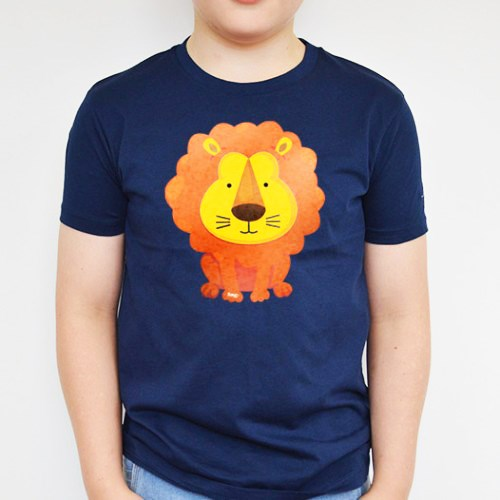 Lion Printed Navy Tee
