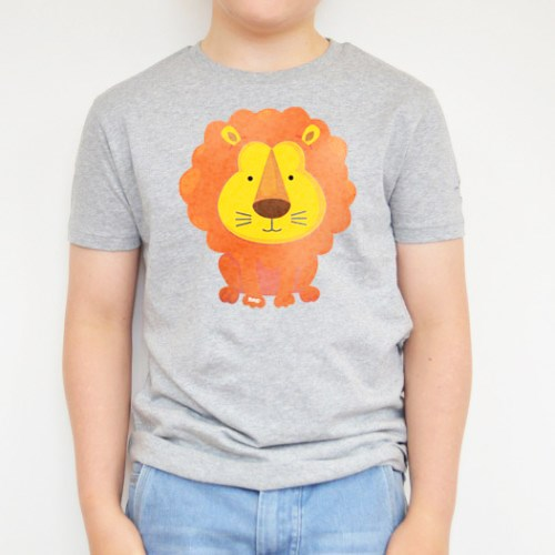 Lion Printed Grey Tee