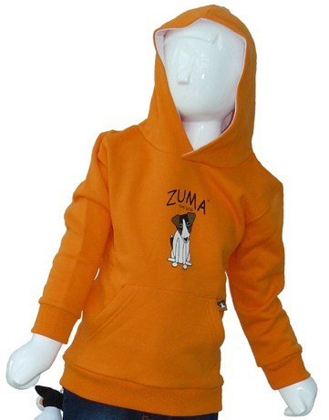 Zuma the Dog Logo Hoodie (Orange)