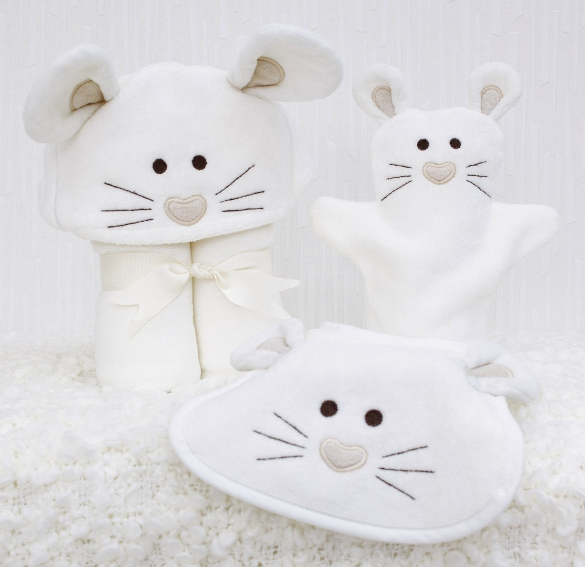 Mouse Baby Towel Gift Set
