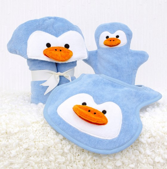 Penguin Baby Towel Gift Set