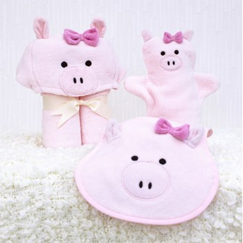 Piggy Baby Towel Gift Set