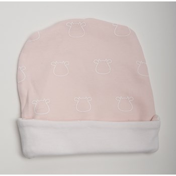 Pink Hat - White Outline Cow