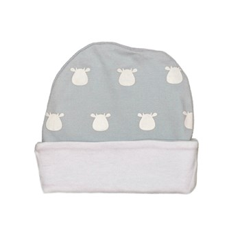Blue Hat - White Solid Cow