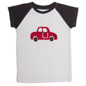 White and Grey Car Print T-Shirt
