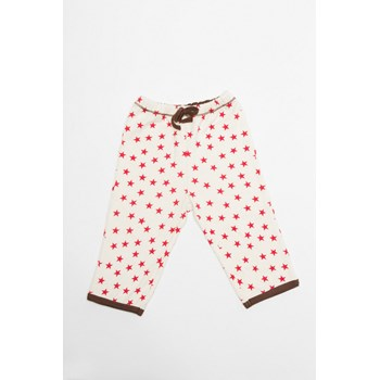 Drawstring Pyjama Pants With Pocket - Red Stars