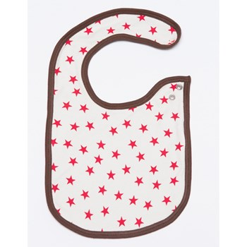 All over print double layer big Bib - Red Stars