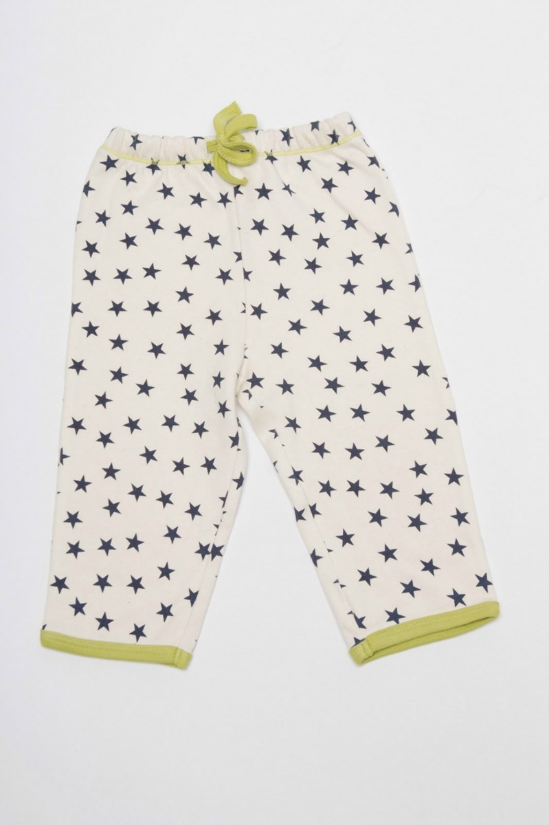 Drawstring Pyjama Pants With Pocket - Blue Stars
