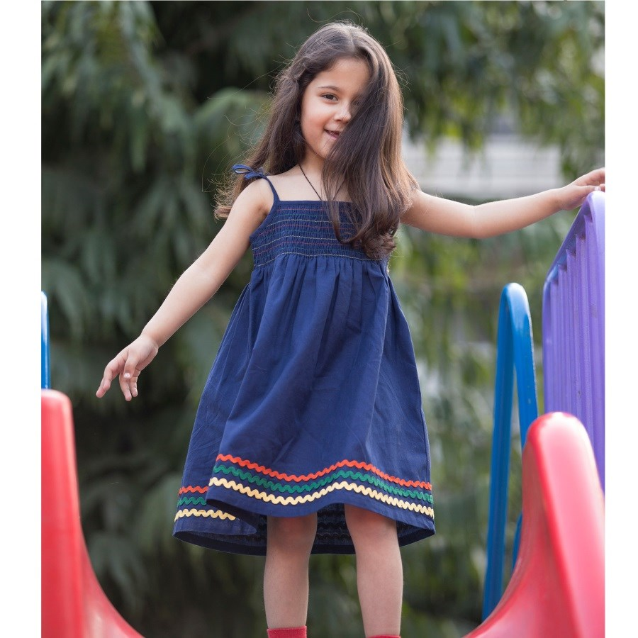 Navy Blue Summer Dress