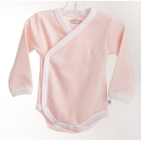 Pink Long Sleeve Kimono Body - Embroidered