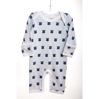 Blue Lap Shoulder Romper - Navy Solid Cow