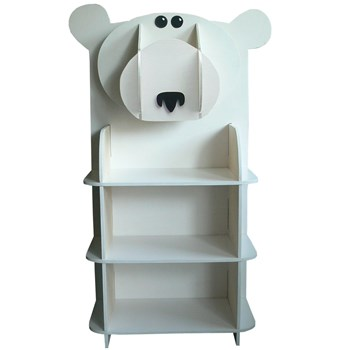 polar bear bookcase