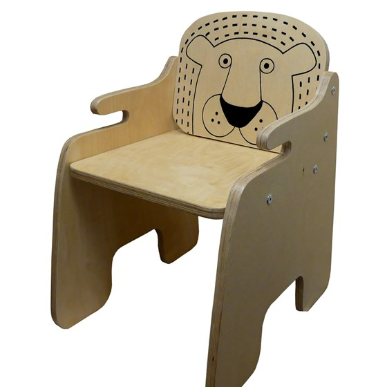 chair with a quirky lion design, ideal for any child's bedroom and safari or jungle themed nursery