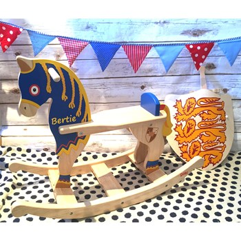 Personalised Knights Rocking Horse