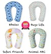 Organic Multipurpose Nursing & Baby Pillow - 6 Different Uses from Birth, Past Toddler Ages!