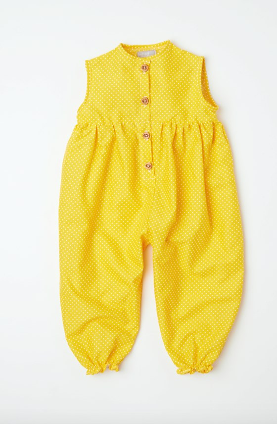 summer pantaloon yellow polka dot