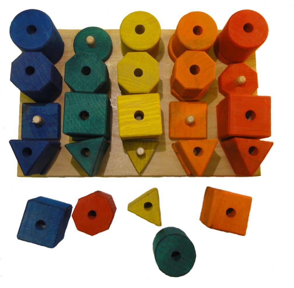Colour & shape sorting pegboard