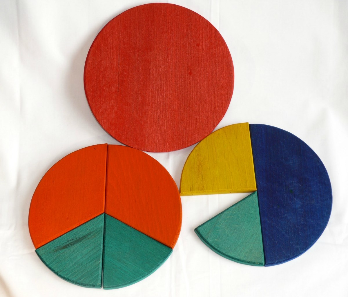 Fraction pie slices