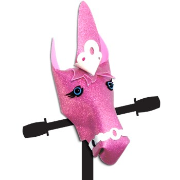 Scooter accessory hobby horse Pink Glitter Unicorn Sparkle