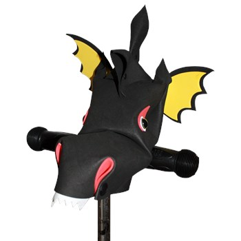 Scorcher - black dragon hobby horse bike and scooter accessory
