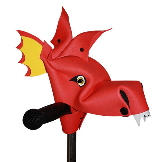 INFERNIOUS - RED HOBBY HORSE DRAGON BIKE AND SCOOTER ACCESSORY