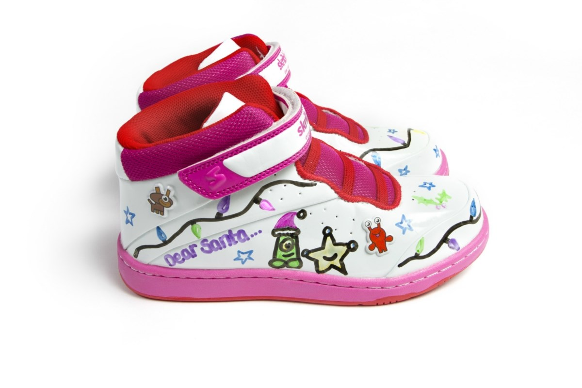 Skribbies Pink Paradise Girls | Customisable Whiteboard Trainers: Draw-Wipe-Draw