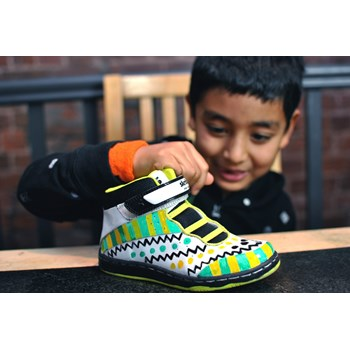 Skribbies Monster Neon Black Customisable Whiteboard Trainers: Draw-Wipe-Draw