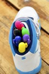 Skribbies Monster Blue Customisable Whiteboard Trainers: Draw-Wipe-Draw