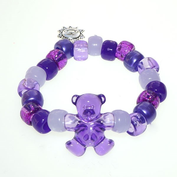 Purple Teddy Army UV Awareness Bracelet