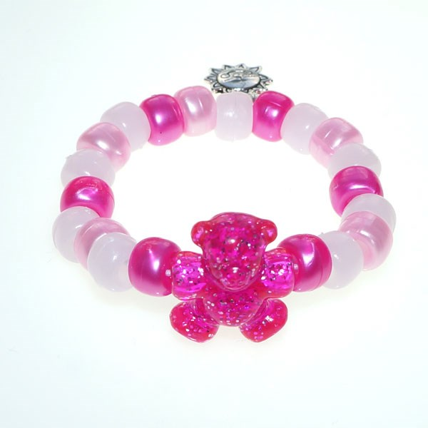 Pink Teddy Army UV Awareness Bracelet