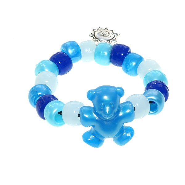 Blue Teddy Army UV Awareness Bracelet