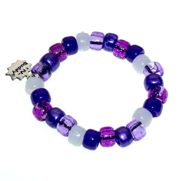 Purple Plum Pie UV Awareness Bracelet