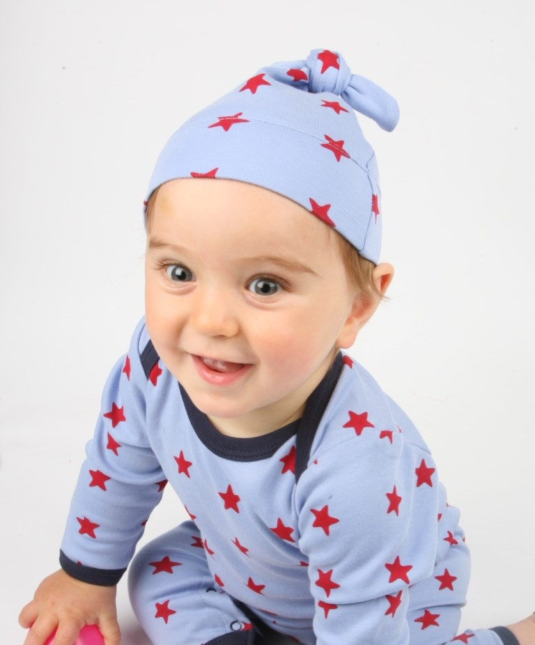 Sleepy Stars Organic Cotton Knotted Hat