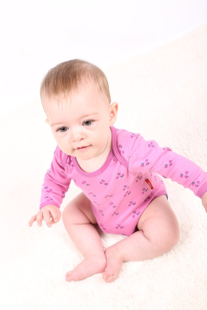 Tilly Pink Flowers Organic Long Sleeve vest