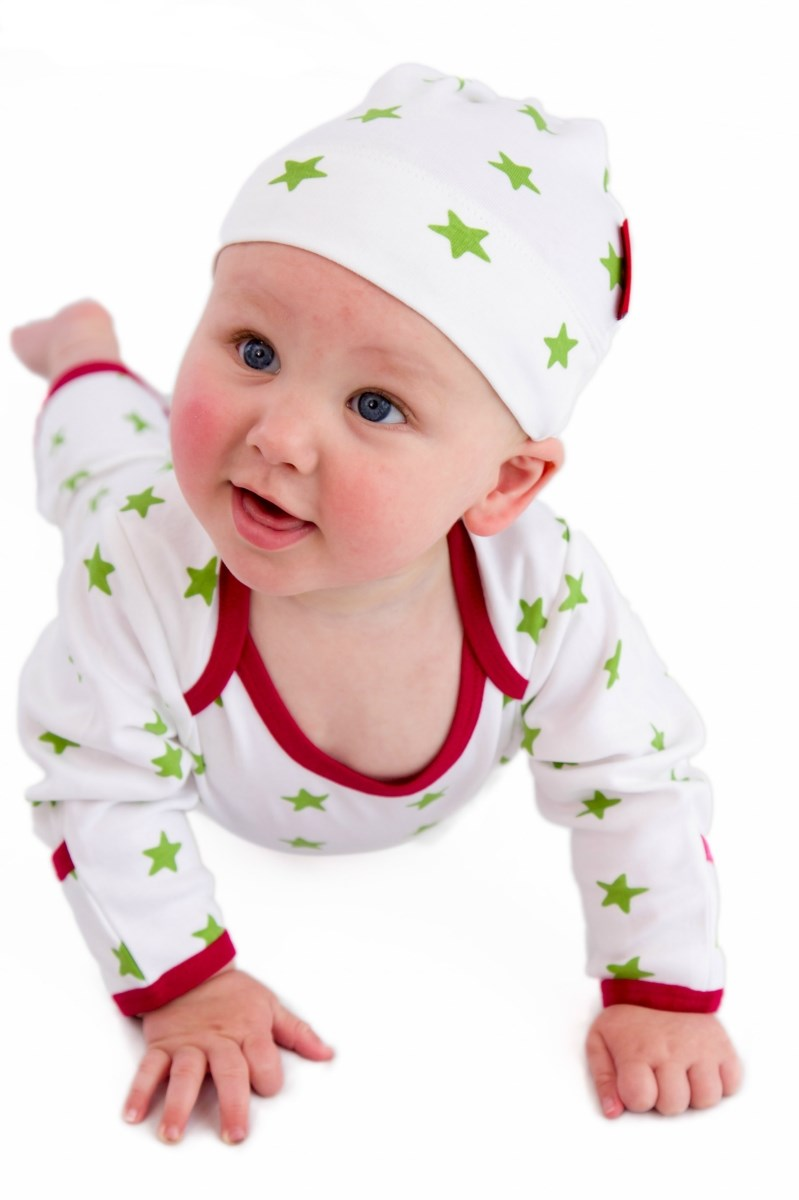 Sleepy Stars Organic Cotton Sleepsuit