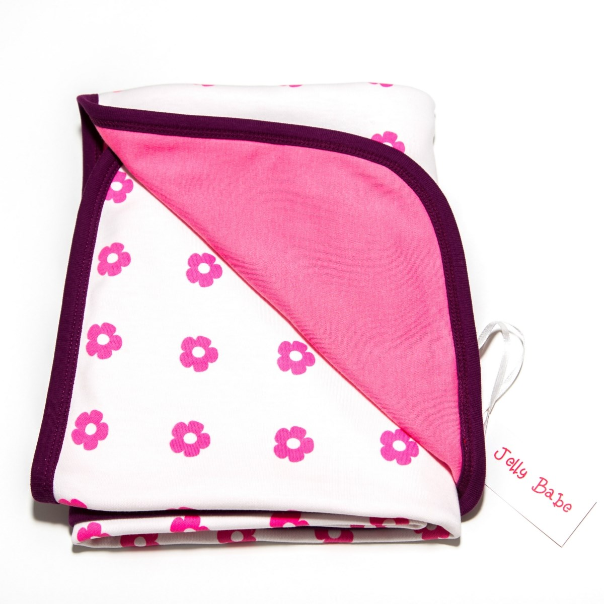 Sweet Flowers Organic Cotton Swaddling Blanket