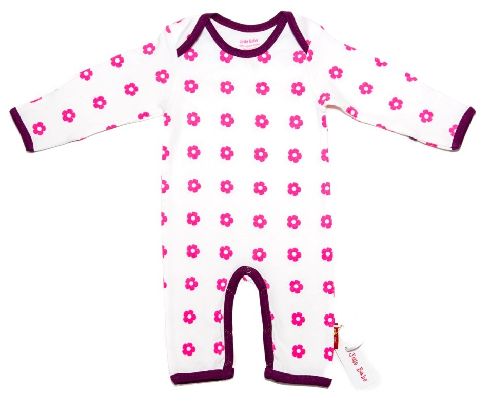 Sweet Flowers Organic Cotton Sleepsuit