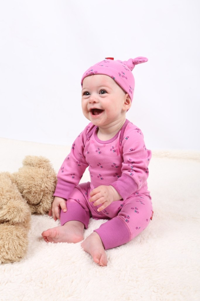 Tilly Pink Organic Girls Sleepsuit