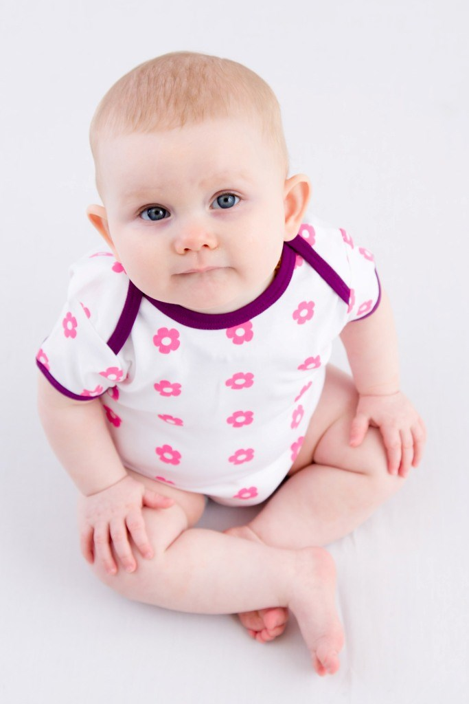 Sweet Flowers Organic Cotton Vest