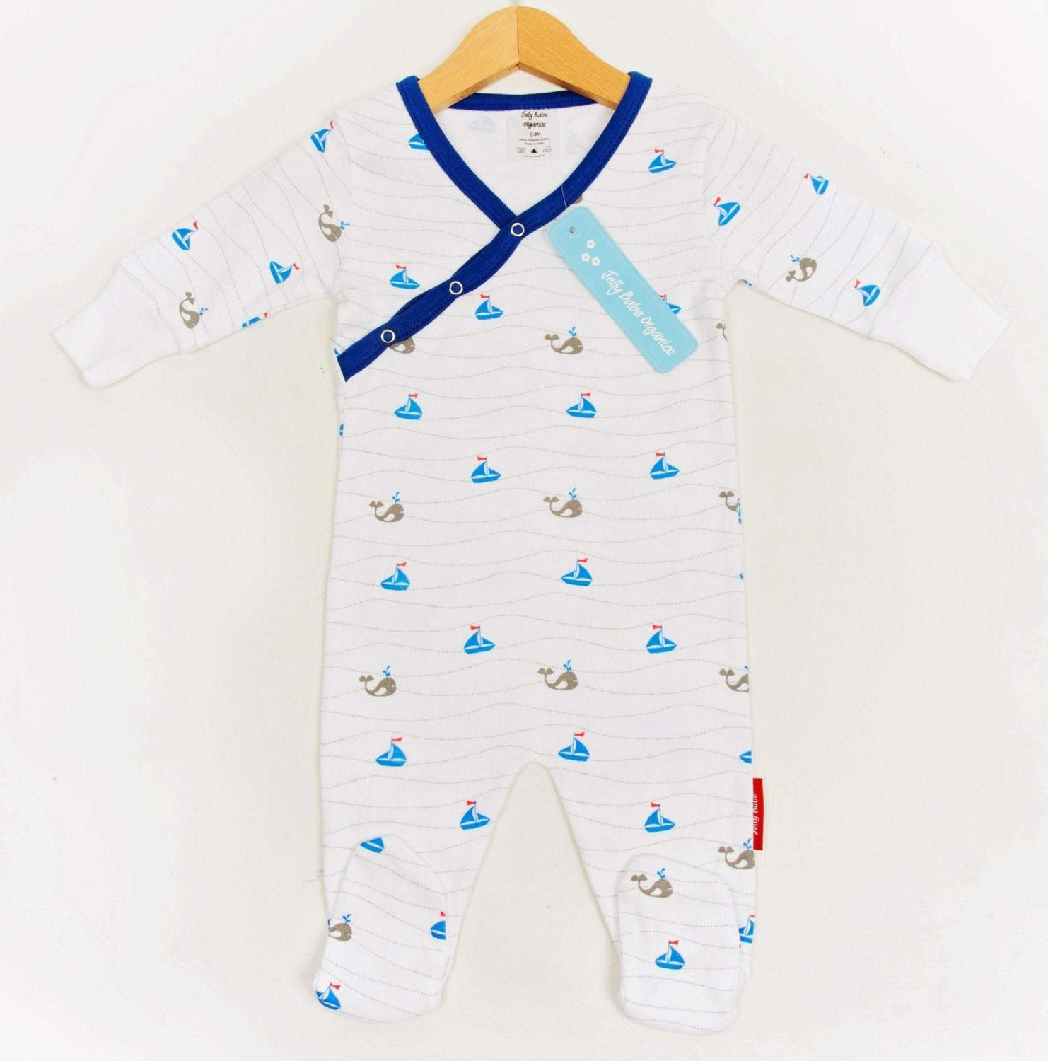 Organic Cotton Boys Romper with Feet
