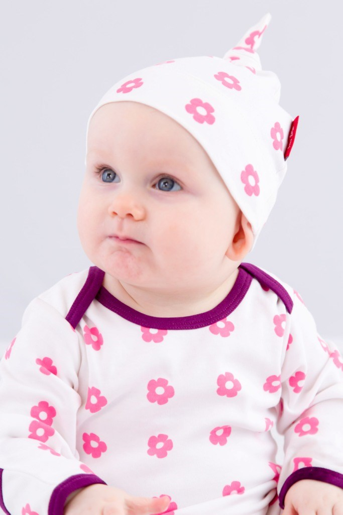 Sweet Flowers Organic Cotton Knotted Hat