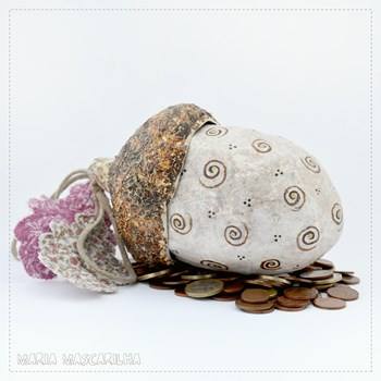 Acorn Money Bank - golden cornucopia