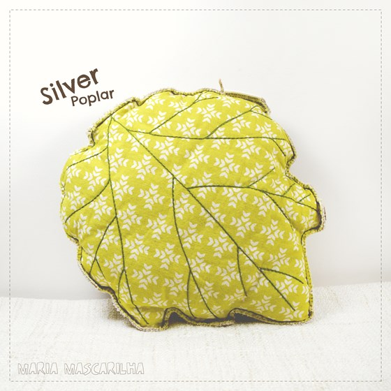 Silver Poplar leaf shaped pillow